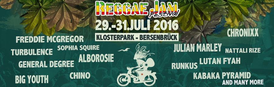 Reggae Jam Festival 2016 - Vorbericht