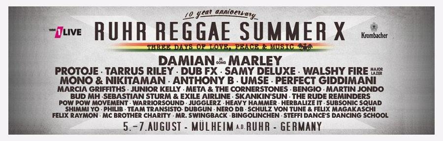 Ruhr Reggae Summer Mülheim an der Ruhr 2016 - Vorbericht